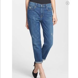 VINCE High Rise Manny Boyfriend Stretch Jeans 26